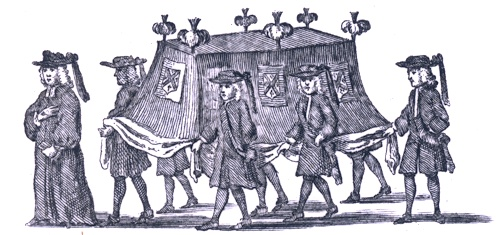 Image of 18th century funeral procession