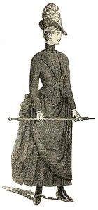 Illustration of girl's dress for deep mourning c1887